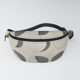 Antique Moon Phases Chart Fanny Pack