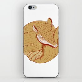 Long-nosed Armadillo iPhone Skin