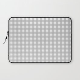 Buffalo Checks Plaid in Dove Gray and White Laptop Sleeve