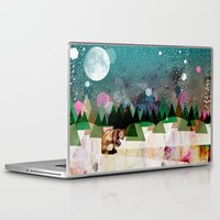 alone Laptop & iPad Skins featuring Alone by Jo Cheung Illustration