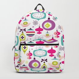 Retro Christmas Ornaments Holiday Pattern Backpack