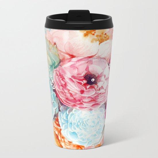 Spring Bouquet Metal Travel Mug