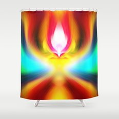 When the sands of time find you dawdling...falling into colour is easy Shower Curtain