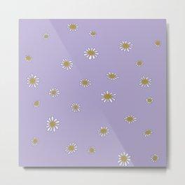 Minimalist Daisies (Lavender) Metal Print