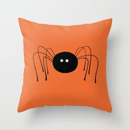 Lonely Spider Throw Pillow