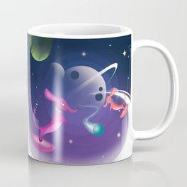 Interstellar Atomic Space Dachshunds Playing Fetch Coffee Mug