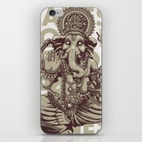 ganesh iPhone & iPod Skins featuring Ganesh by _MattVector