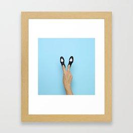 Peace Bro[gue] Framed Art Print