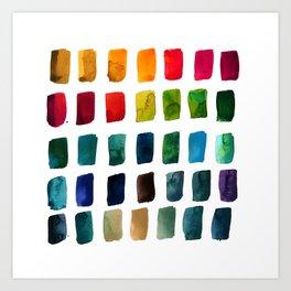 Brushstrokes 1v by Kathy Morton Stanion Art Print