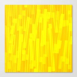 Geometric Yellow Gold Painting Canvas Print