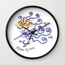Flutes fly free Wall Clock