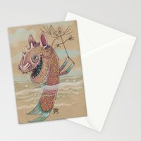 SWIMMING WITH PUPPETS Stationery Cards