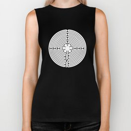 Cathedral of Our Lady of Chartres Labyrinth - Black Biker Tank