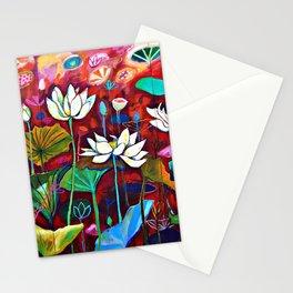 Radiant Lotus Garden Stationery Cards