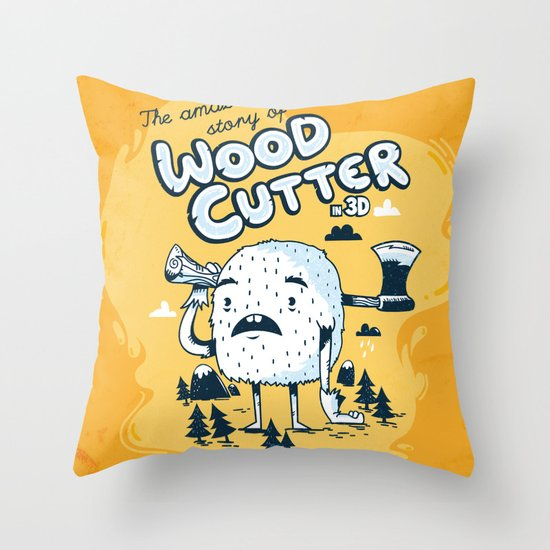 The WoodCutter Throw Pillow