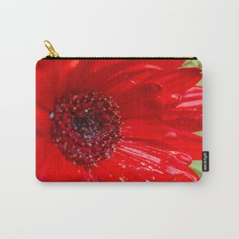 Red Gerber Daisy Carry-All Pouch