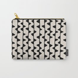 Triangles / Black & White Pattern Carry-All Pouch