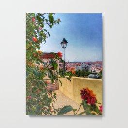 Summer days in Lisbon. Fine Art Photography. Metal Print