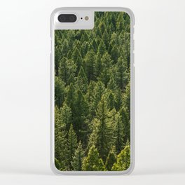 Colorado Pine Forest Clear iPhone Case