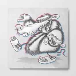 HUGO the Pimp Rat  Metal Print