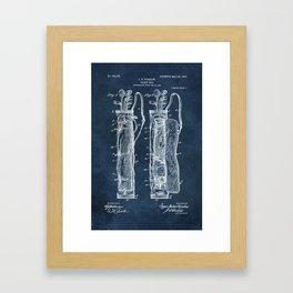 winslow caddy bag patent art Framed Art Print