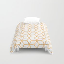 Hive Mind Orange #338 Duvet Cover
