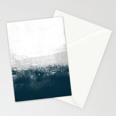 Ocean No. 1 - Minimal ocean sea ombre design  Stationery Cards