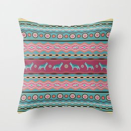 German Shepherd Decorative Pattern in pastels Throw Pillow