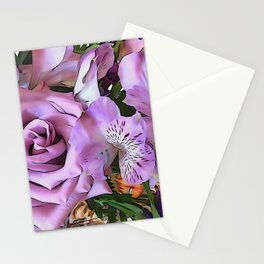 Lavender Pretty Stationery Cards