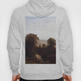 Schooley S Mountain New Jersey 1879 By David Johnson | Reproduction | Romanticism Landscape Painter Hoody