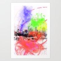 skyline Art Prints featuring Skyline by Fine2art