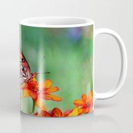 Gulf Fritillary On Zinnia Coffee Mug