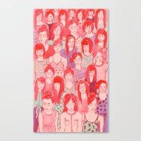 Girl Crowd Canvas Print