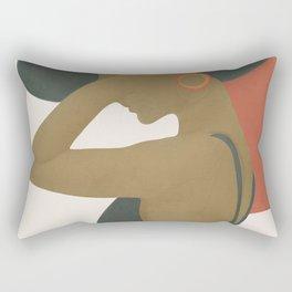 Lady in a Black Dress Rectangular Pillow