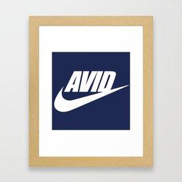 Avid Swoosh - Dark Framed Art Print
