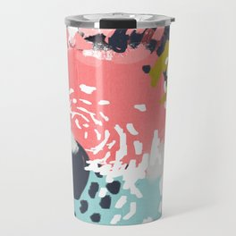 Athena - abstract painting hipster home decor trendy color palette art gifts Travel Mug