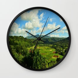 Hanalei Taro Farm Wall Clock