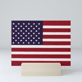 USA flag - Painterly impressionism Mini Art Print