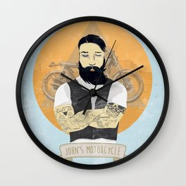 John's Motorcycle Wall Clock