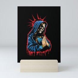 Day Of The Dead - Praying La Calavera Catrina Mini Art Print