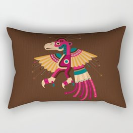 """Chiconcuetzalli"" The Scarlet Rectangular Pillow"