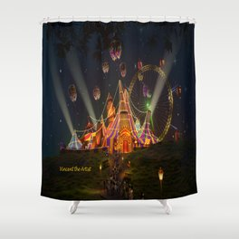 Circus from Vincent the Artist Shower Curtain