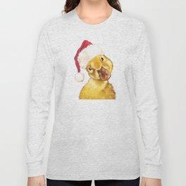 Christmas yellow duckling Long Sleeve T-shirt