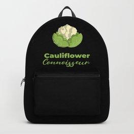 Cauliflower Connoisseur Veggie Vegetarian Healthy Plant Food Backpack