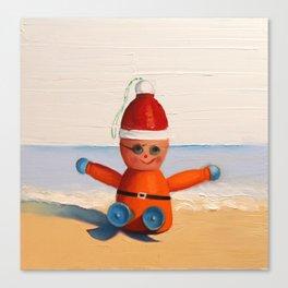 Orange at the Beach Canvas Print