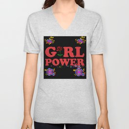 Girl Power Glam Unisex V-Neck