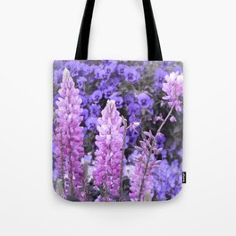 Lively Lupines Tote Bag