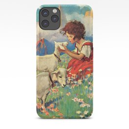 Jessie Willcox Smith - Heidi, Girl Of The Alps - Digital Remastered Edition iPhone Case