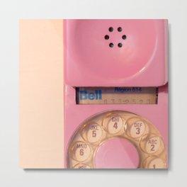 Pink Hotline Metal Print