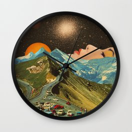 Face on the mountain Wall Clock